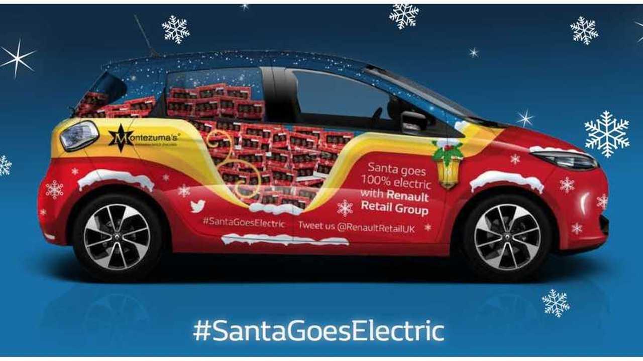 #SantaGoesElectric in Renault ZOE