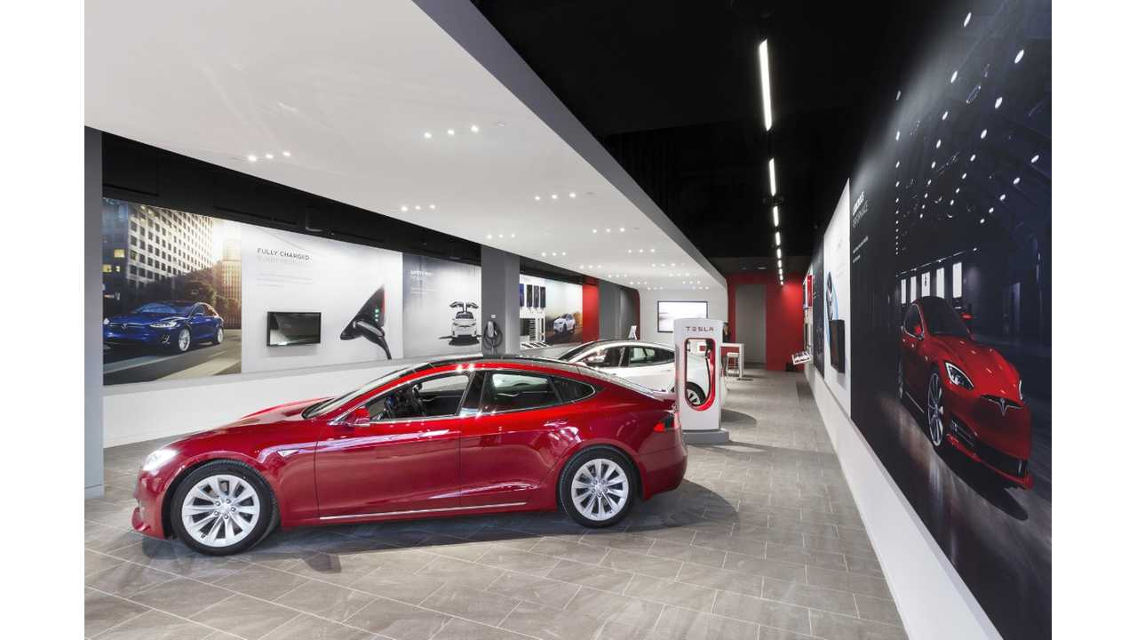 currently has a Tesla store, but no service center.