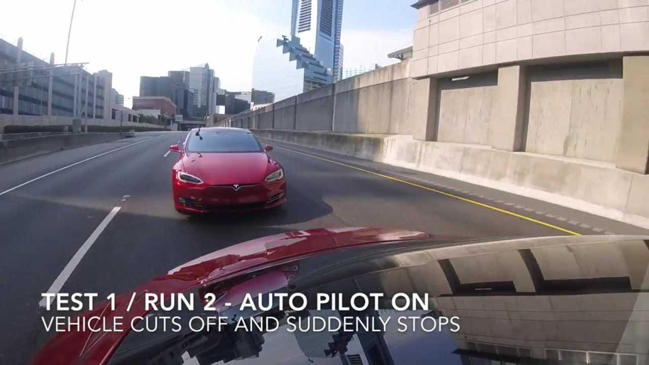 tesla auto pilot collision avoidance test 1 michael b