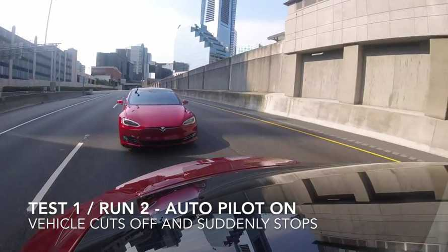 Tesla Model S Collision Avoidance Systems Test: The Good And Not So Good - Video