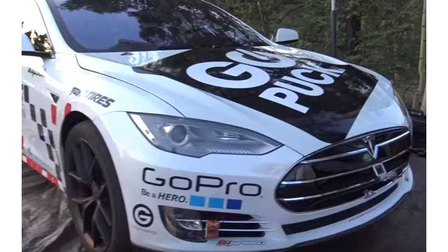 Race-Ready Tesla Model S P90DL At Pikes Peak - Video