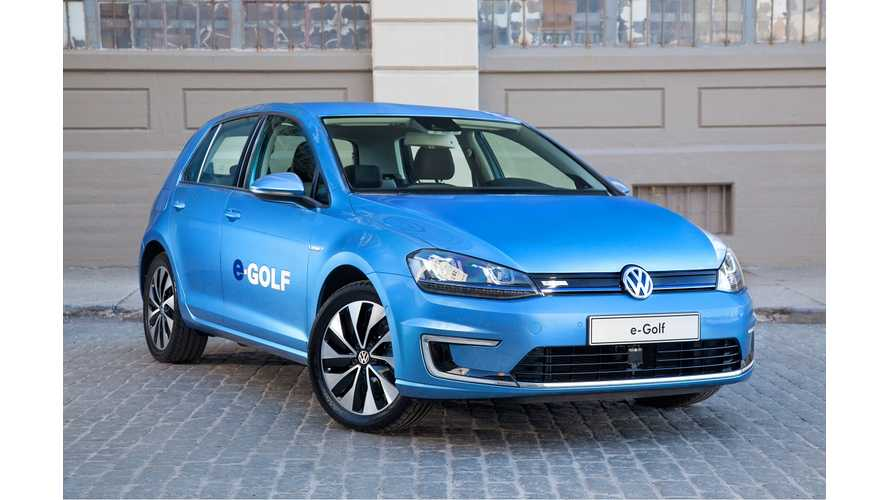 Volkswagen To Auction Off First U.S. e-Golf For Charity