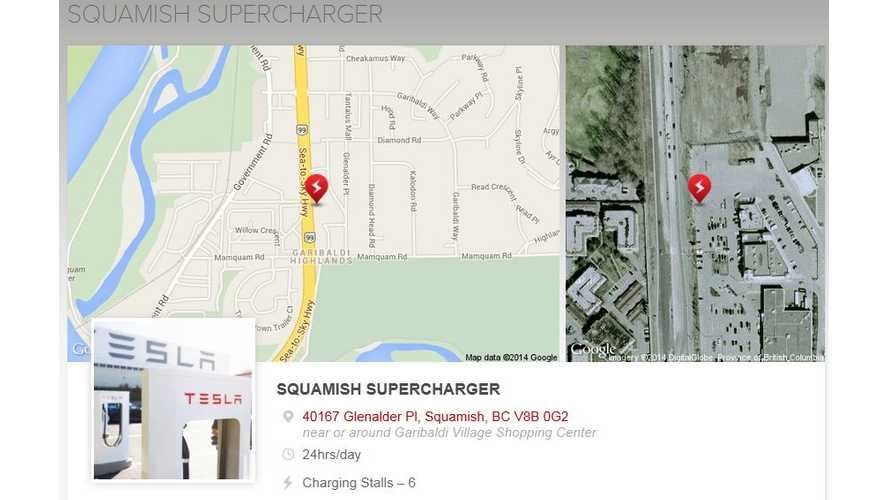 Canada's First Tesla Supercharger Now Open