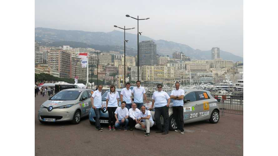 Renault ZOE Grabs Top 4 Spots In ZENN Monte-Carlo Rally