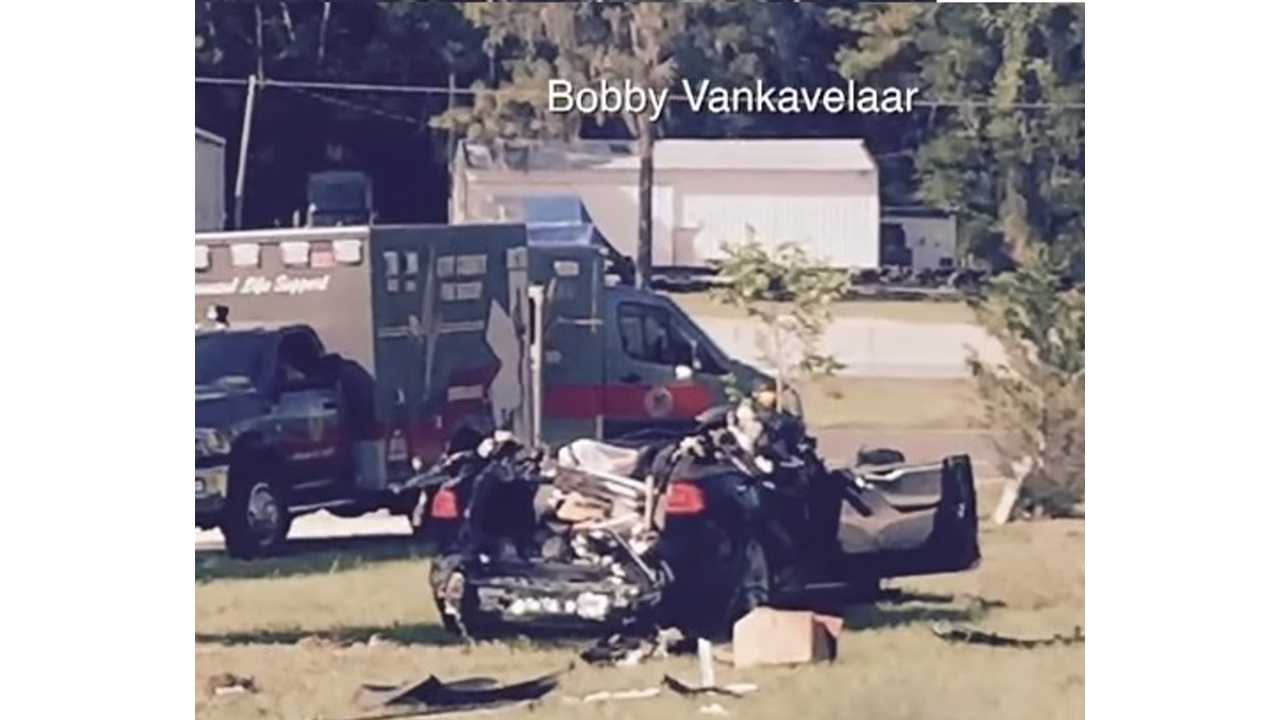 Tesla Autopilot Fatality:  Report From The Scene, Witness Account, Official Police Report - Video