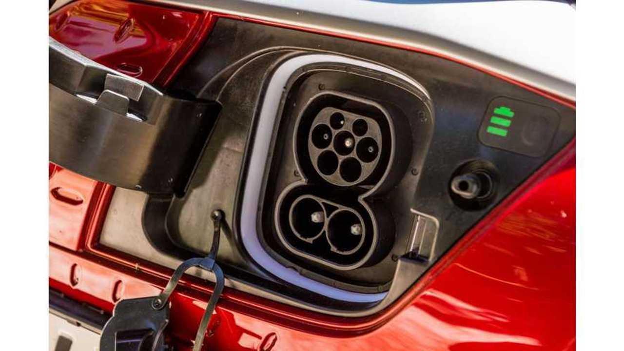 Hyundai Kona Electric - CCS Combo charging inlet