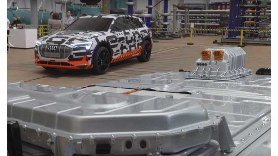 First Look At Audi E-Tron Battery Pack On Display