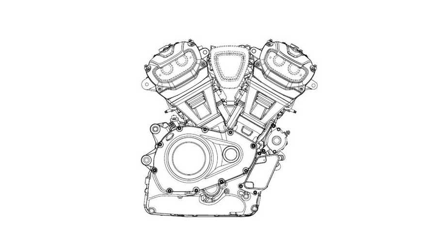 Patent Drawings Show New Harley Middleweight V-Twins