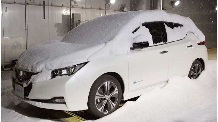 Watch As Snow Falls On 2018 Nissan LEAF, Plus Dyno/Acoustic Testing In Action