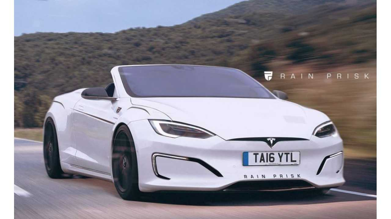 Rain Prisk Renders Tesla Model S Convertible