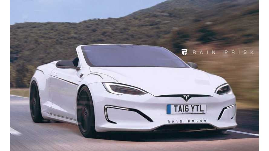 Rain Prisk Renders Tesla Model S Convertible