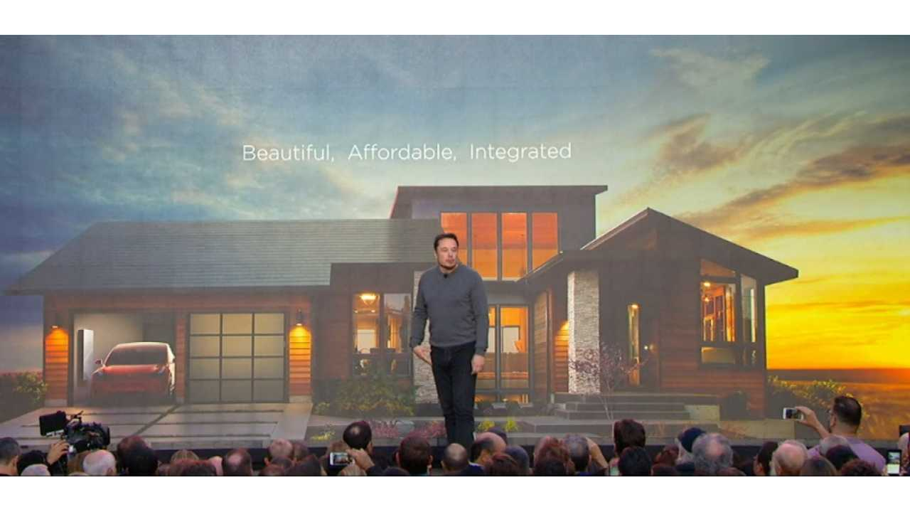 CEO Elon Musk at Tesla Powerwall 2/solar roof event in Los Angeles