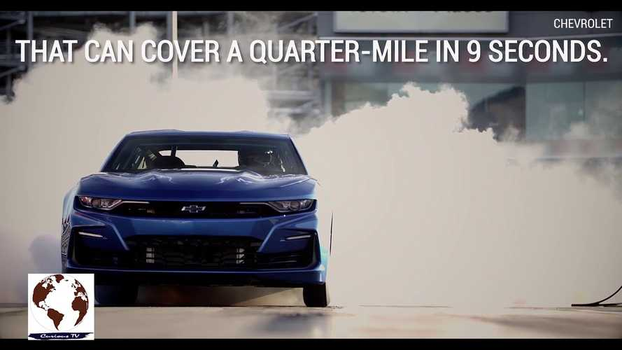 Watch Chevrolet eCOPO Electric Camaro Do A Smoky Burnout