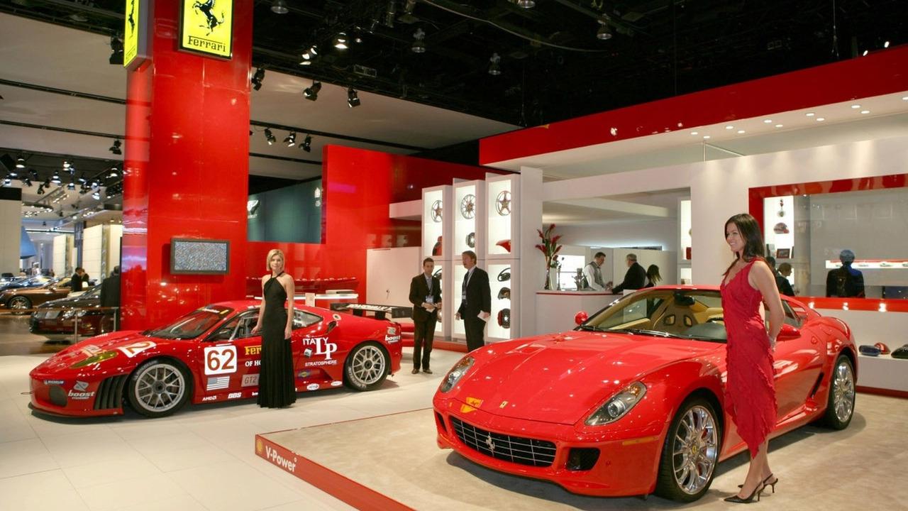 Ferrari stand at Detroit 2007