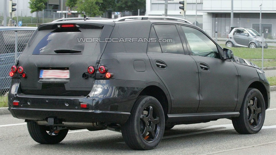 2012 Mercedes-Benz ML-Class first prototype spied again