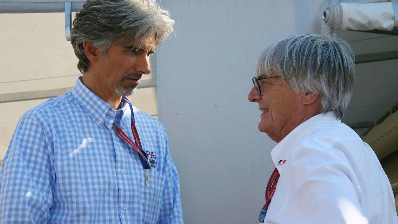 Damon Hill (GBR) President of the BRDC, and Bernie Ecclestone (GBR), British Grand Prix, Saturday, 10.06.2006 Silverstone, England,