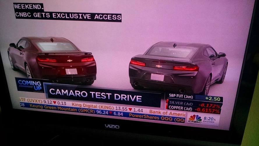 2016 Chevrolet Camaro makes a surprise debut on CNBC