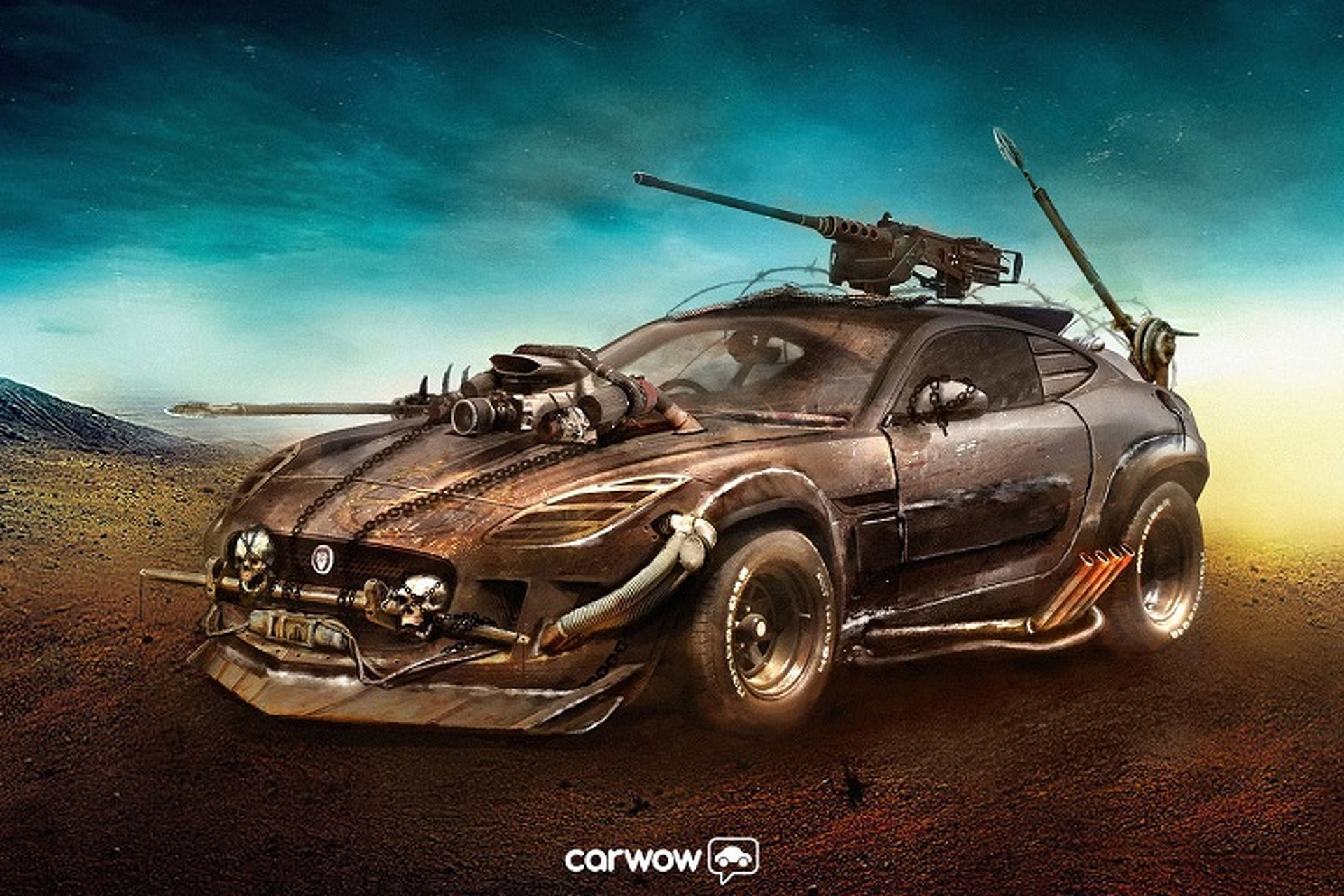 This Is What The Jaguar F Type Would Look Like In Mad Max