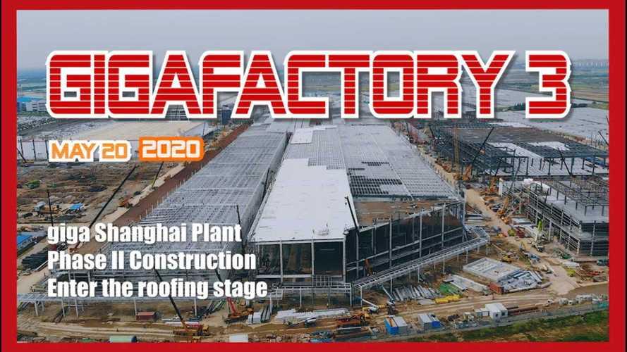 Tesla Giga Shanghai Construction Progress May 20, 2020: Video