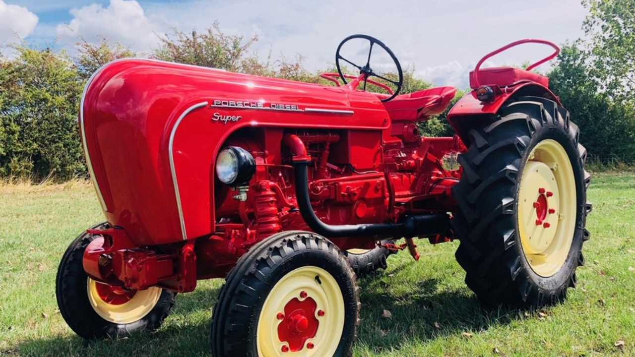 Porsche's 'sports car of tractors' sells for £20k
