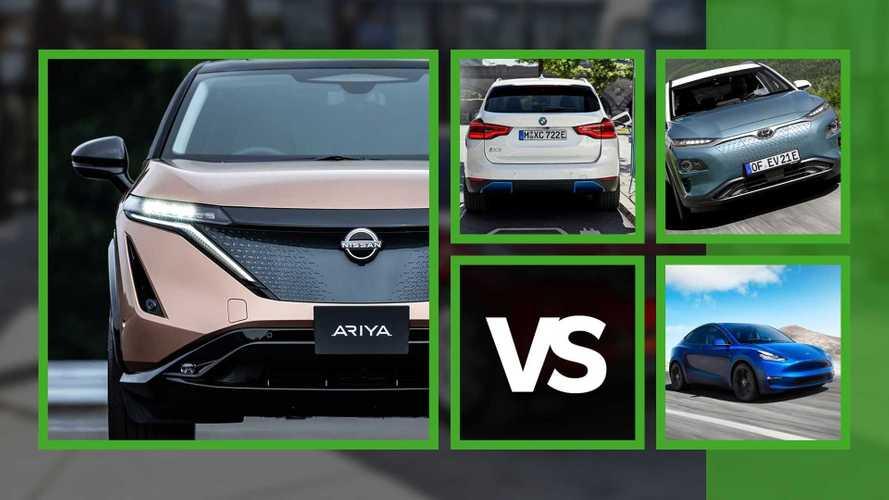 SUV elettrici? Nissan Ariya sfida Tesla Model Y, BMW iX3 (e Hyundai Kona)