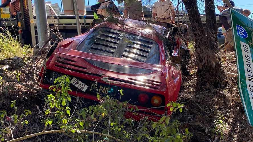 Próbavezetésen törhettek össze egy Ferrari F40-et Ausztráliában