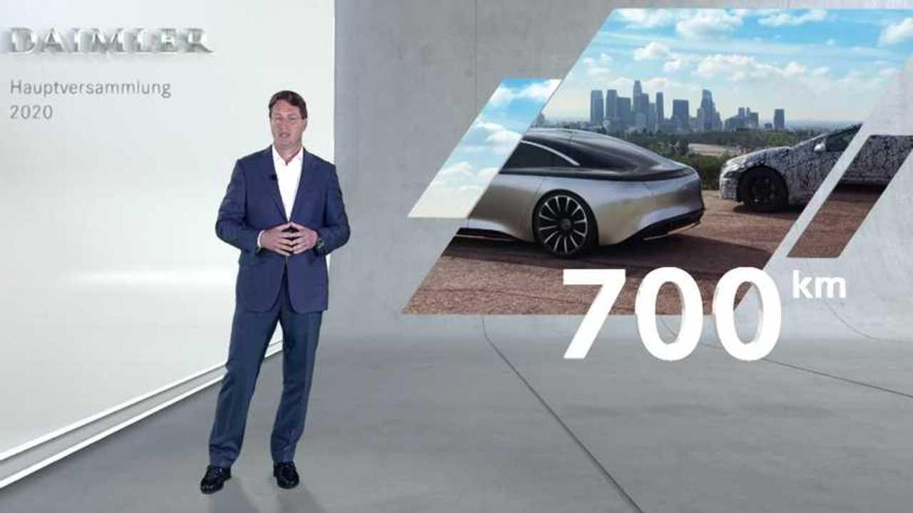 Mercedes EQS 700 km WLTP range