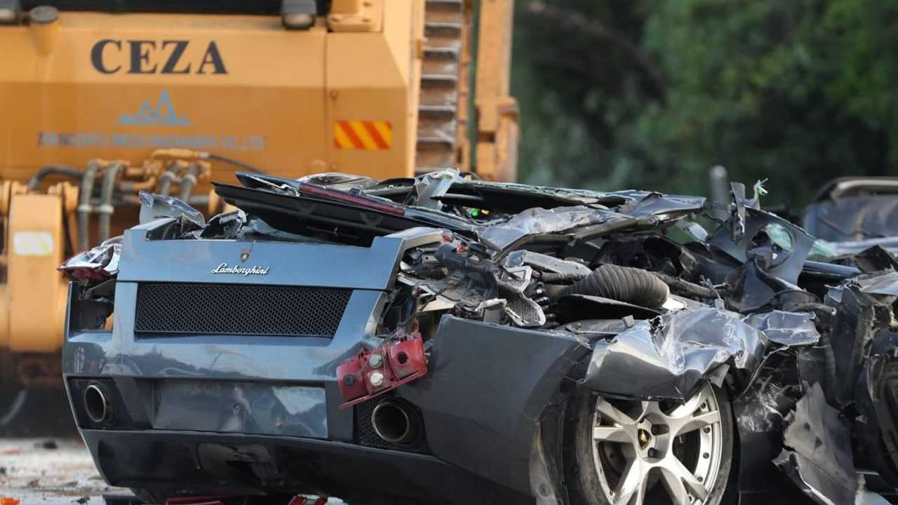 Watch: $6.8 million supercars crushed by Philippine authorities