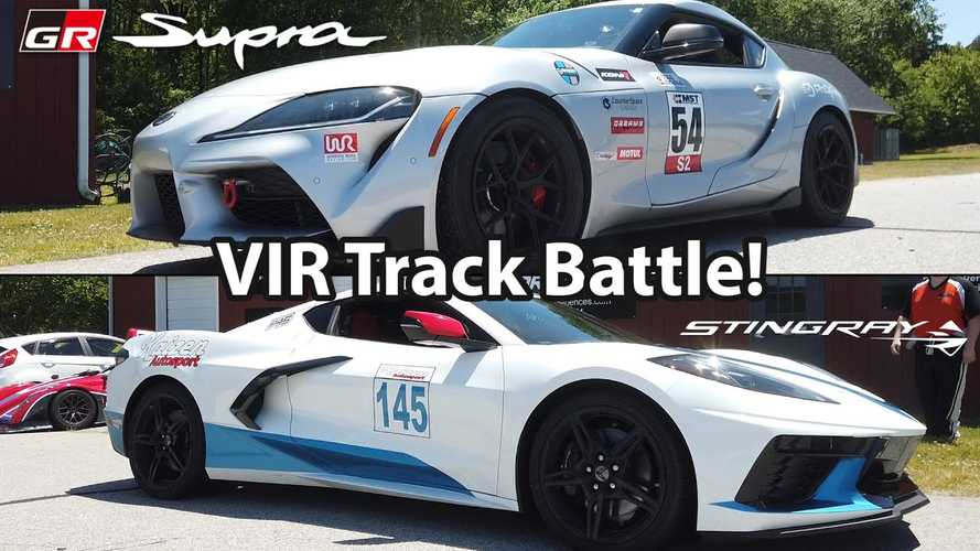 Track Battle: 2020 Chevy Corvette C8 vs Toyota Supra