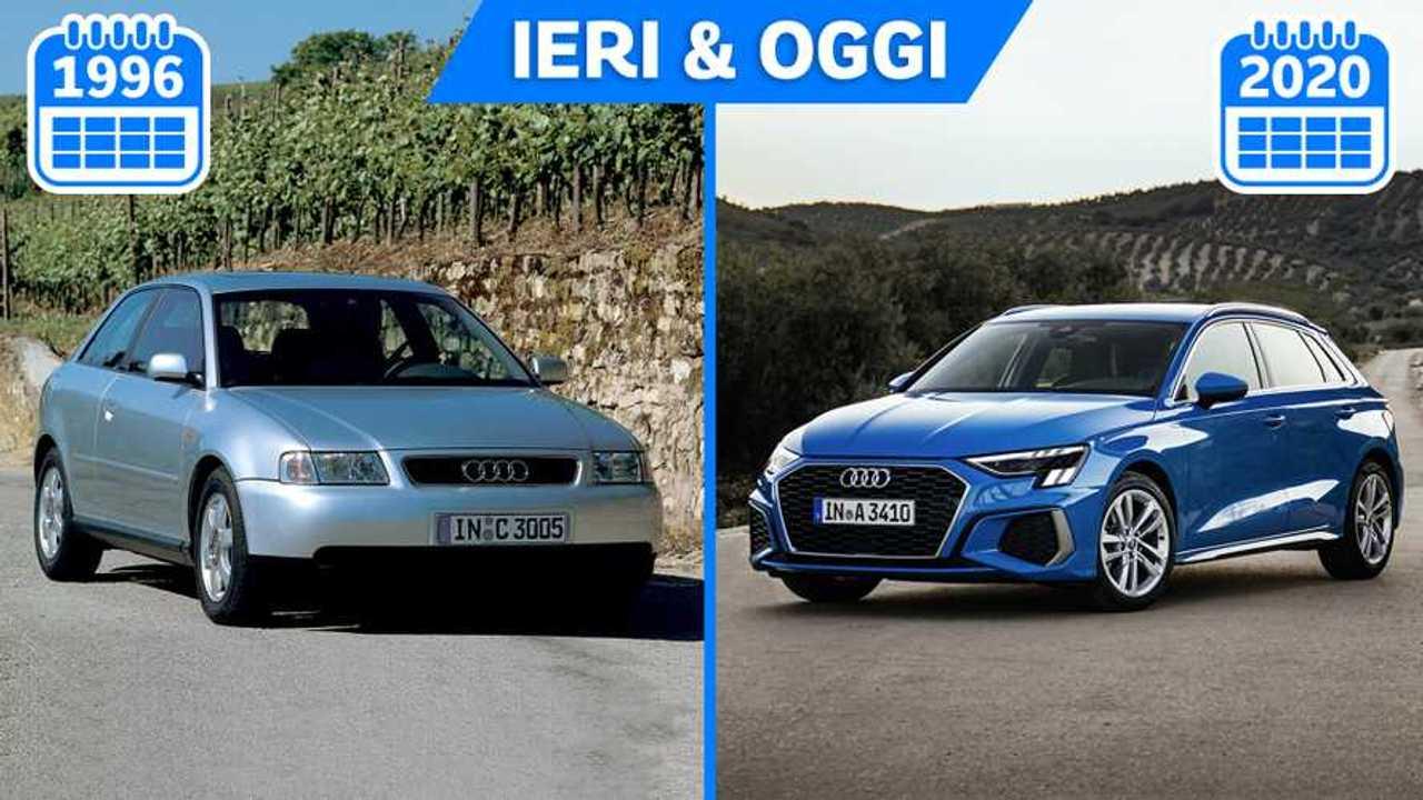 Audi A3 ieri e oggi, dal 1996 al 2020