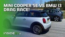 mini cooper se drag race bmw i3