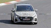 Hyundai i20 N, le foto spia al Nurburgring