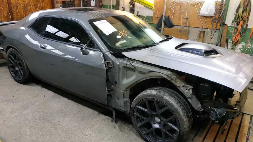 See Wrecked Dodge Challenger Get Reborn In Timelapse Repair Video