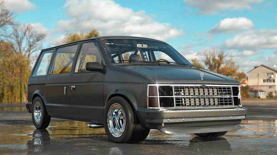 1980s Chrysler Minivan Get Full Carbon Body In Wild Rendering