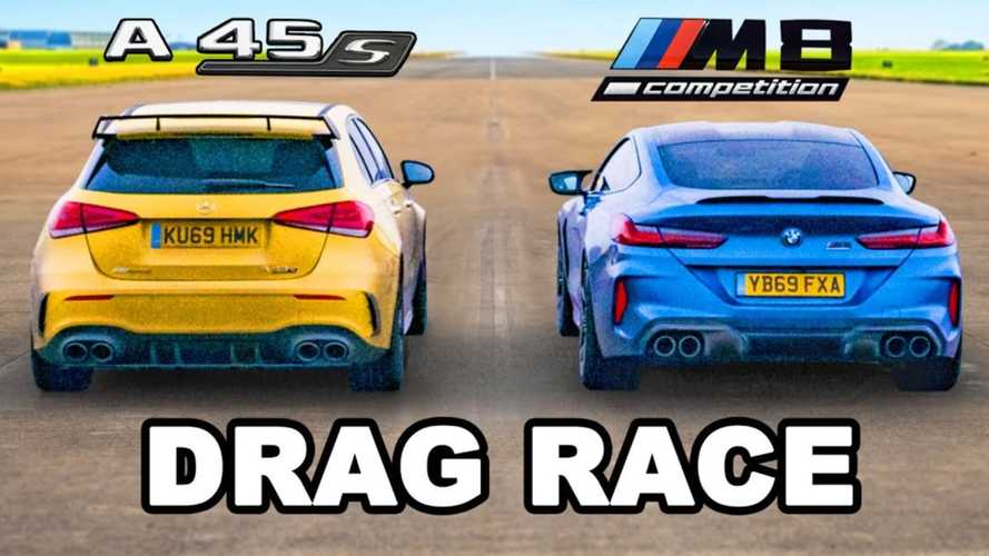 Can The Mercedes-AMG A45 S Beat A BMW M8 Competition In A Drag Race?