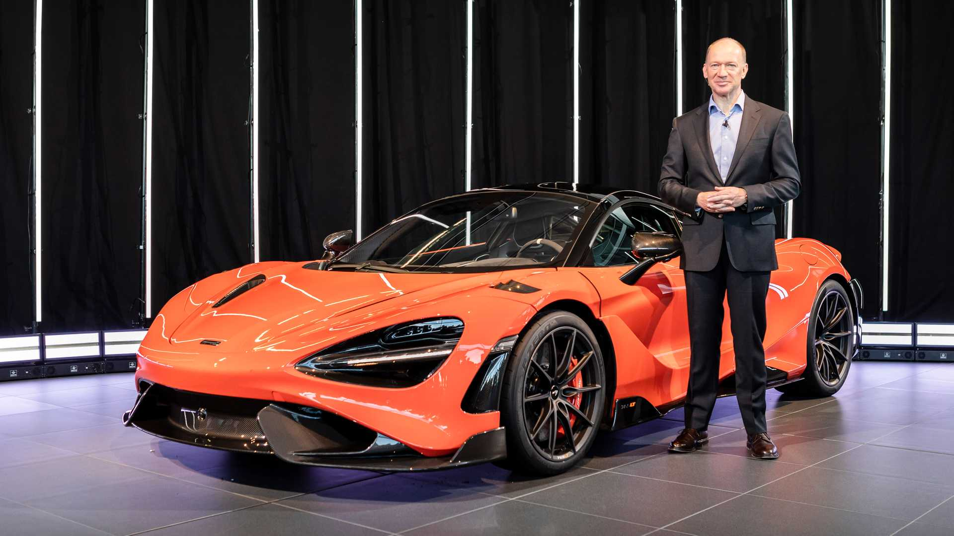 Mike Flewitt CEO McLaren Automotive with 765LT