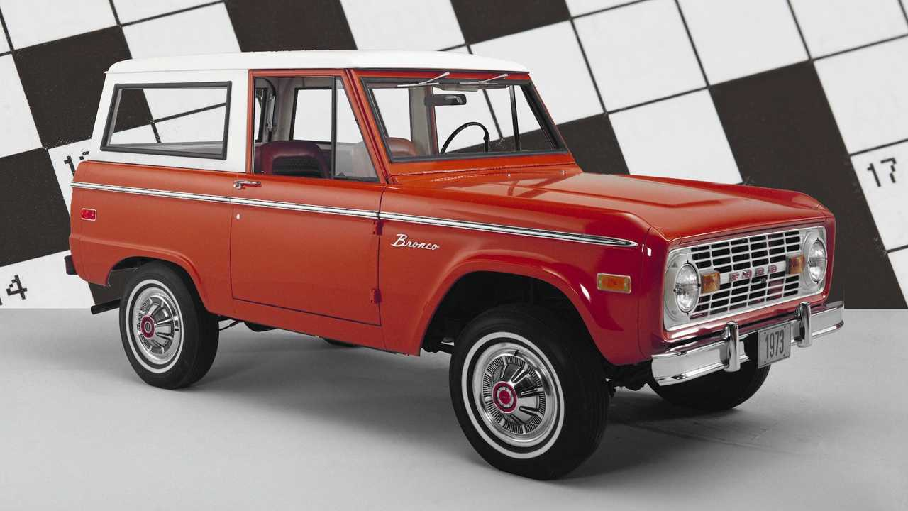 Ford Bronco Crossword Puzzle
