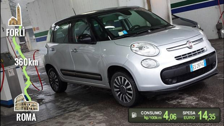 Fiat 500L Natural Power, la prova dei consumi reali