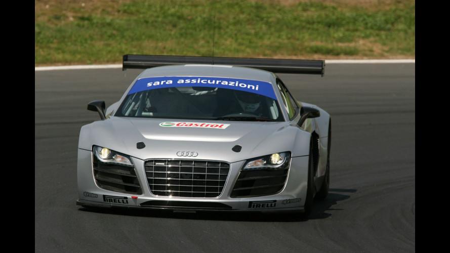 Campionato Italiano GT: esordio bagnato per la R8 LMS