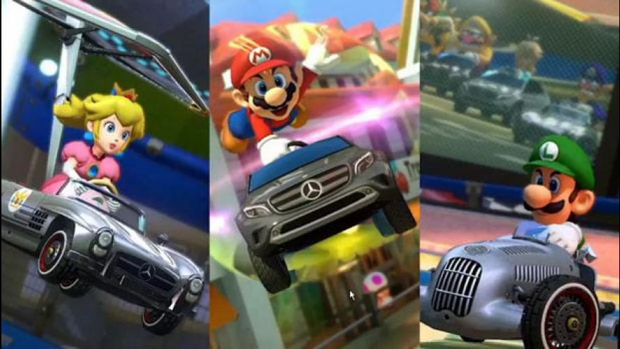 "Mario Kart 8, tre Mercedes diventano ""virtuali"""