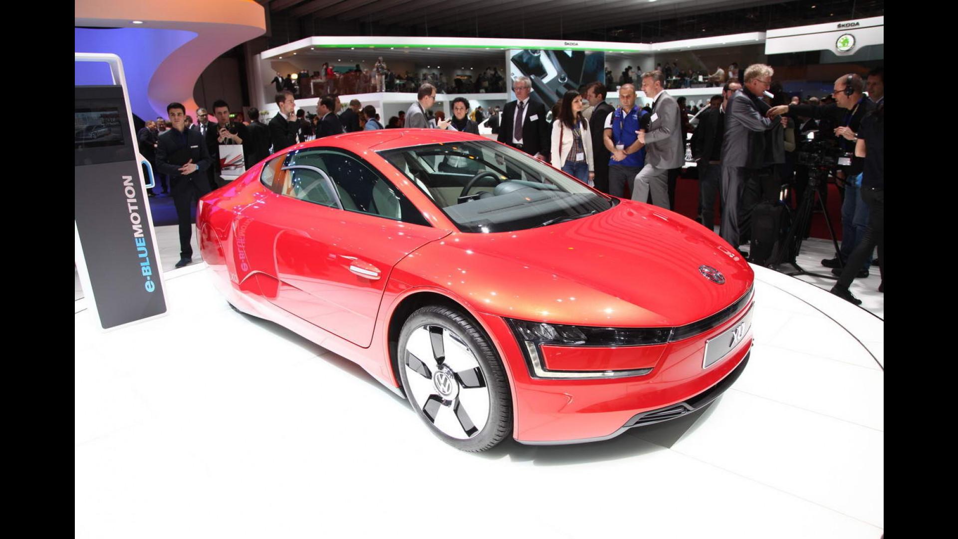 Salone Di Ginevra Un Missile Rosso Chiamato Volkswagen Xl1 Motor1
