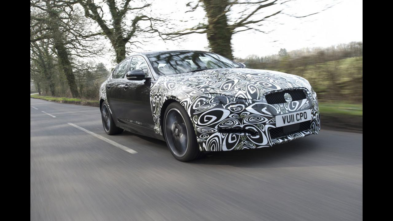 Jaguar XF restyling. I prototipi