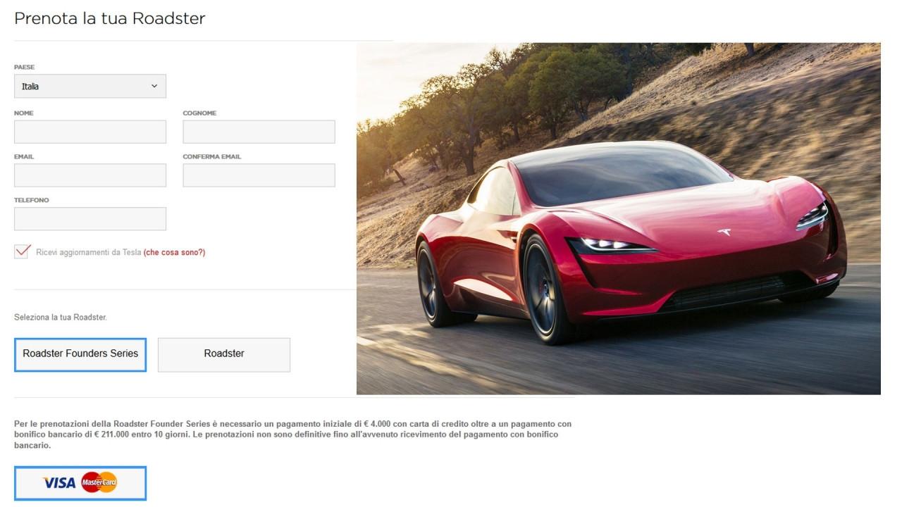 [Copertina] - Tesla Roadster, ecco come fare per prenotarla