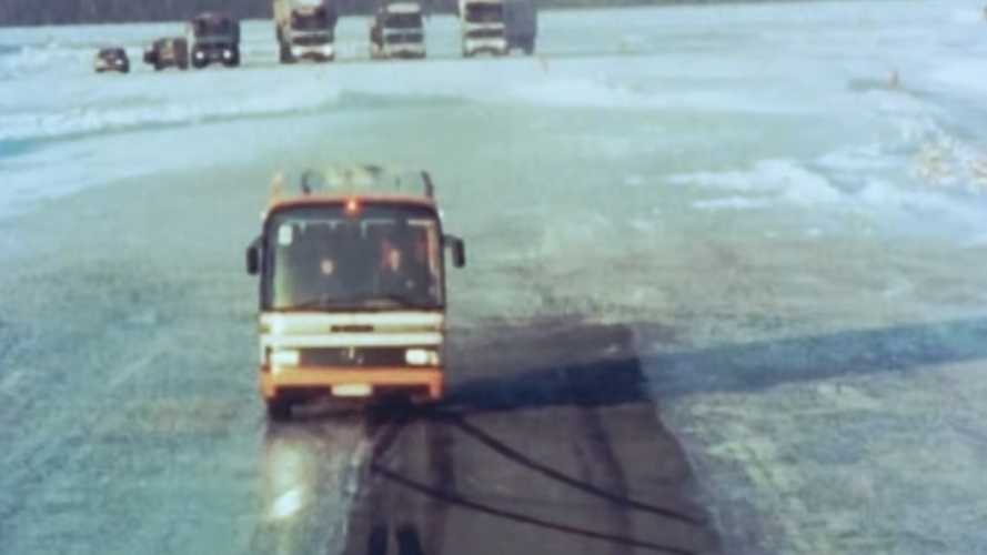See how Mercedes was testing ABS on trucks, buses back in the day