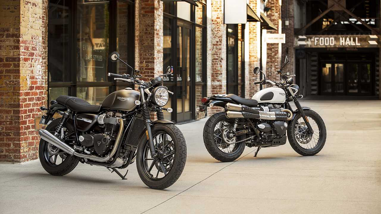2019 Triumph Street Scrambler and Street Twin