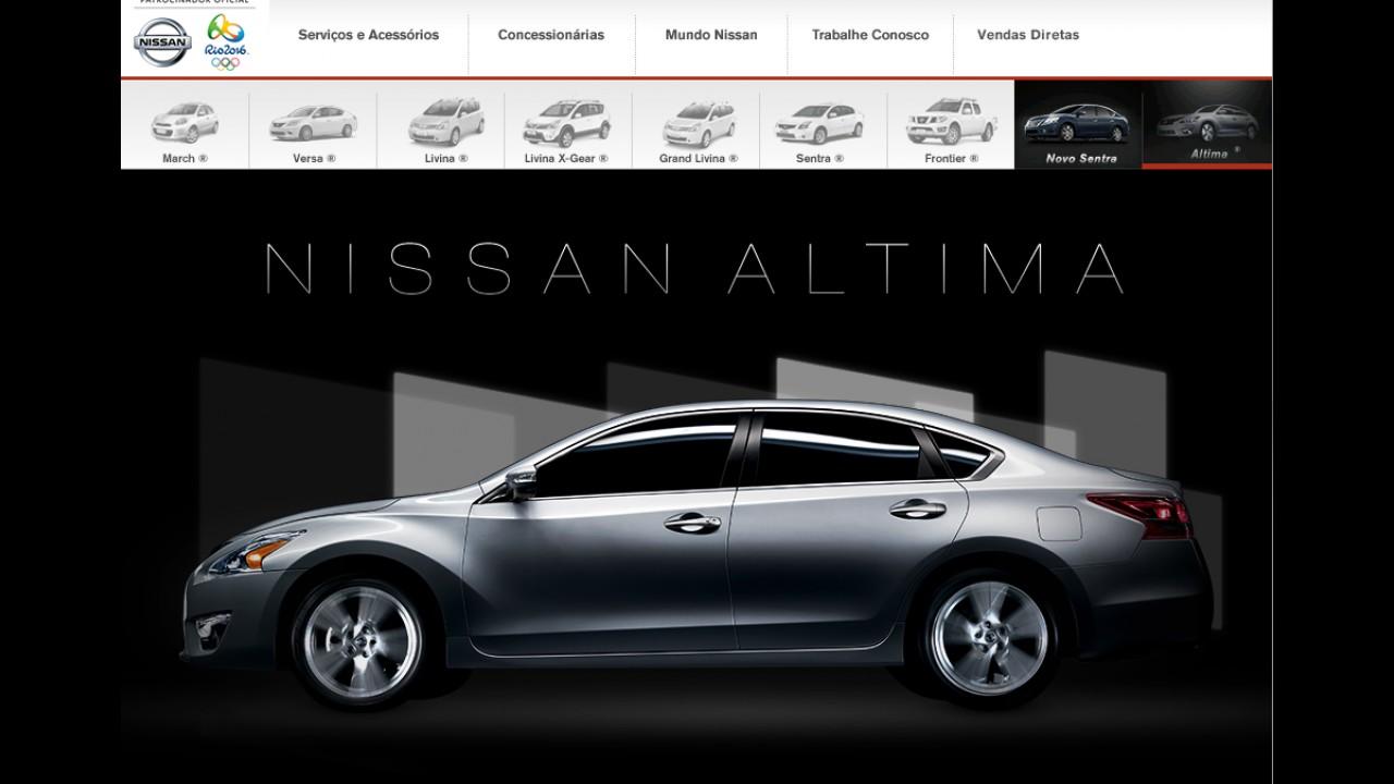 Nissan já apresenta novo Altima em site oficial