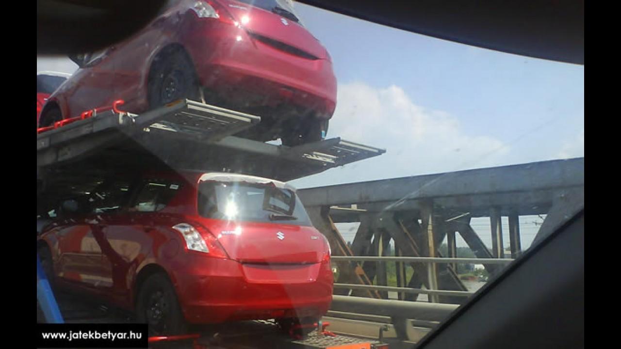 Novo Suzuki Swift 2011 é flagrado sem disfarce na Hungria