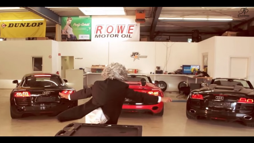 Vídeo: roncos de três Audi R8 viram bela sinfonia em orquestra de oficina