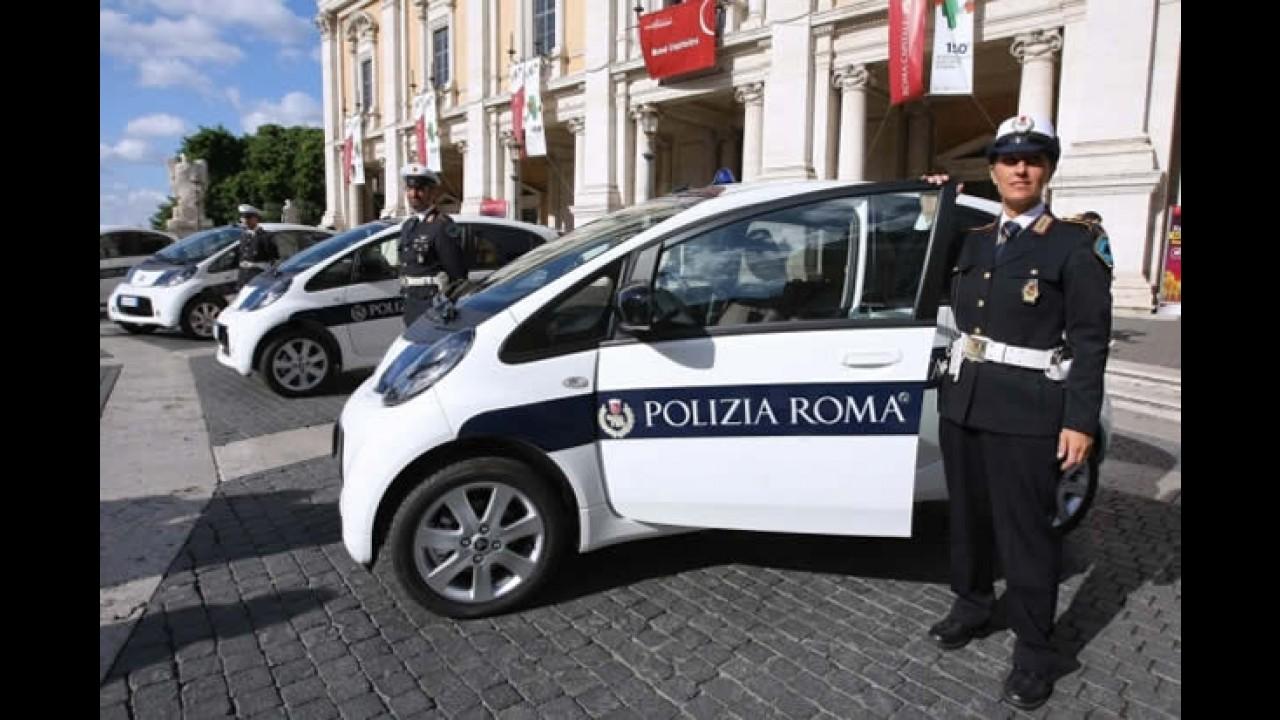 Polícia de Roma adquire 14 unidades do 100% elétrico Citroën C-Zero