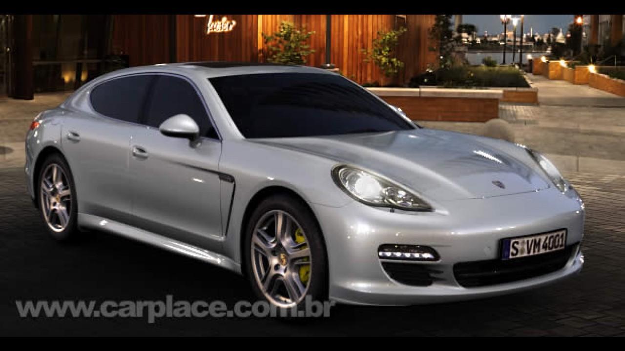 Porsche faz lançamento mundial do esportivo Panamera S no Salão do Automóvel de Xangai